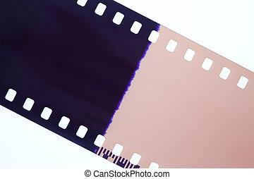 Photography film isolated on white background