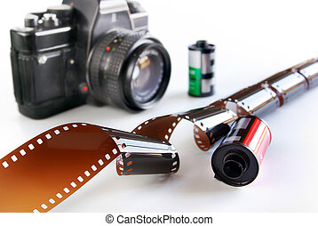 Photography Gear - Classic analog photography equipment over...