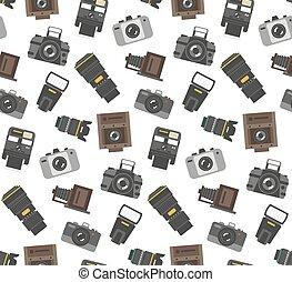 Photography gear seamless pattern
