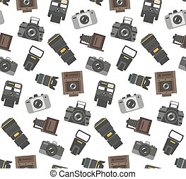 Photography gear seamless pattern