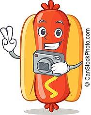 Photography Hot Dog Cartoon Character