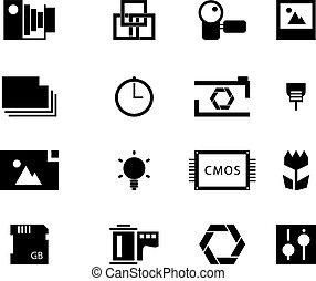 Photography icon set. Vector Illustration EPS 10