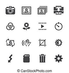 Photography icons and Camera Icons