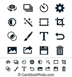 Photography icons - Simple vector icons. Clear and sharp. ...