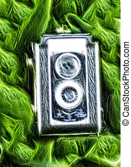 Photography in Nature - Abstract image of vintage camera ...