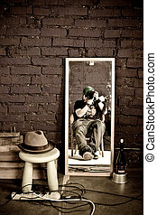 Photography in studio