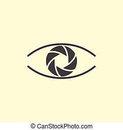 Photography logo design eye.