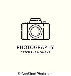 Photography logo sign. Photo camera emblem
