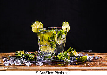 Photography of glass with mojito