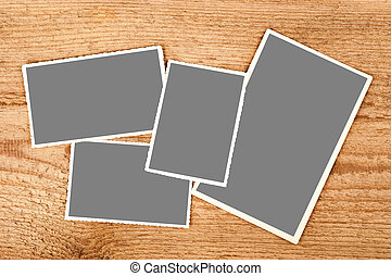photography - pictures with clipping path on wood background