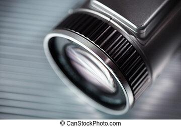photography - digital camera in closeup ,selective focus on...