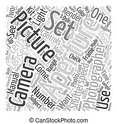 Photography text background wordcloud concept