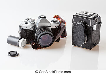Photography tools, old cameras