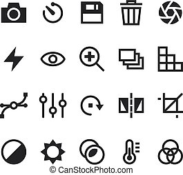Photography vector icons