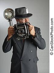 photojournalist, senkrecht