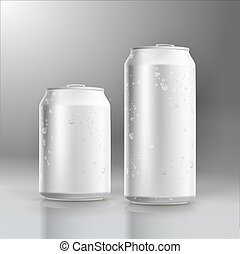 blank white beer can mock up with water splash render blank white
