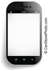 Photorealistic modern mobile phone template