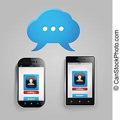 Photorealistic modern mobile phones