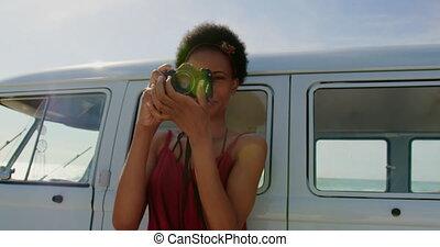 photos, appareil-photo numérique, 4k, femme, prendre