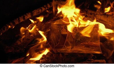 Someone puts photos on fire and they burn