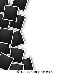 Photos Border On White Background