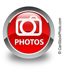 Photos (camera icon) glossy red round button