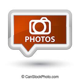Photos (camera icon) prime brown banner button