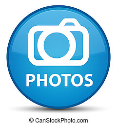 Photos (camera icon) special cyan blue round button