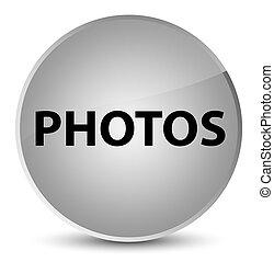 Photos elegant white round button
