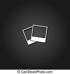 Photos icon flat.