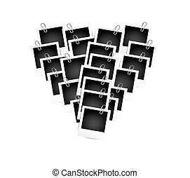 photos in a heart shape illustration design