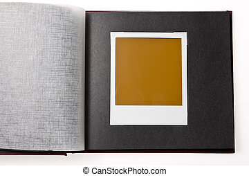Localized blank photo in a photo album