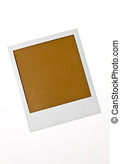 Localized blank Polaroid photo on a white background