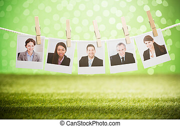 Photos Of Businesspeople Hanging On Rope