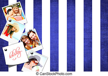 photos of holiday people on fabric background