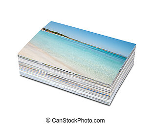 Photos - Pile of photos printed on photo paper