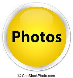 Photos premium yellow round button