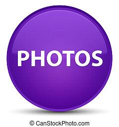 Photos special purple round button