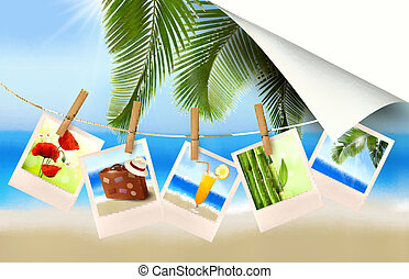 photos, vacances, fond