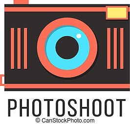 photoshoot, 照相机, 红, 图标