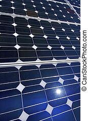 photovoltaïque, détail, panneau