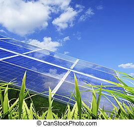 photovoltaïque, industriel, installation
