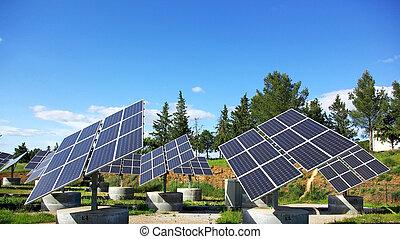photovoltaïque, panels.