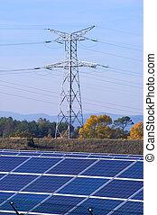 photovoltaïque, plante, puissance