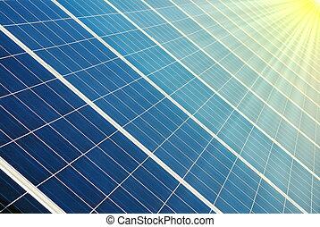 photovoltaic celler, och, sol
