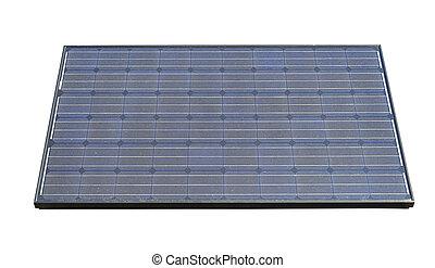 photovoltaic, isolado, cortando, solar, caminho, painéis