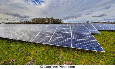 photovoltaic, painéis, sistema, solar