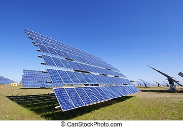 Photovoltaic panel - Solar field for renewable energy with...