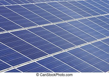 photovoltaic panel - detail of a photovoltaic panel for...