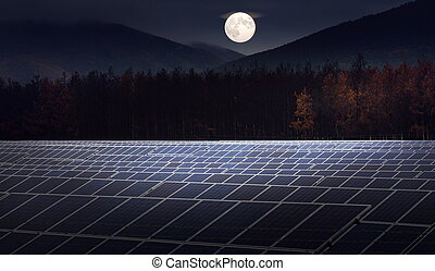 photovoltaic panels for renewable solar energy